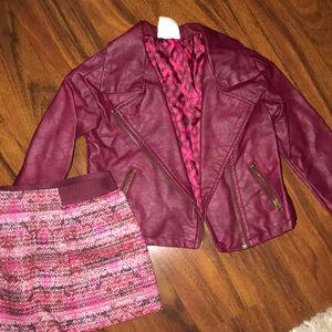 Toddler girl jacket and skirt